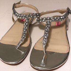 Betsey Johnson Embellished T-Strap Sandal